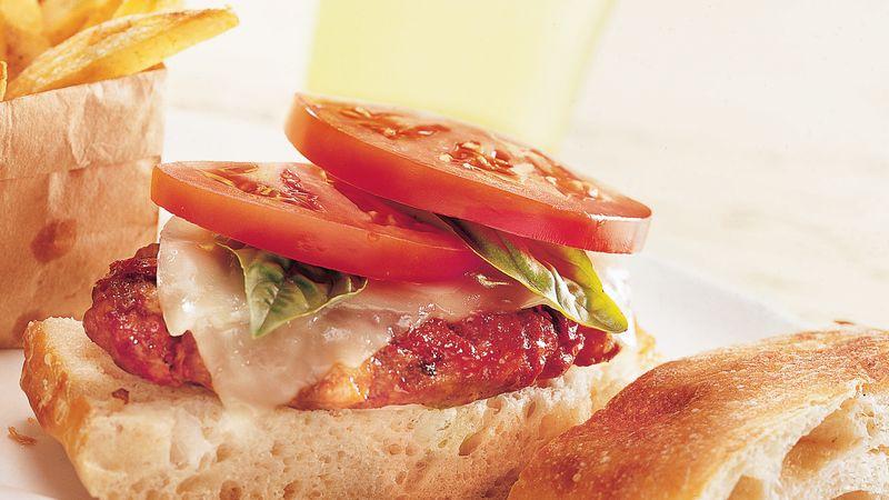 Two-Tomato Italian Burgers