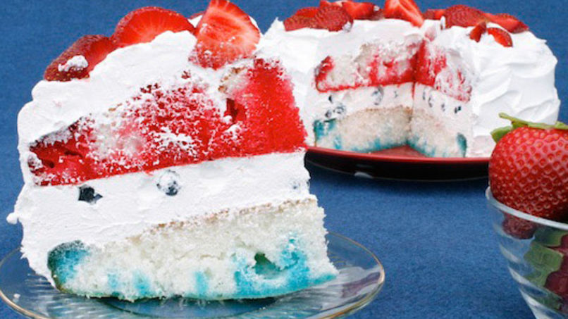 4th of July Gelatin Cake