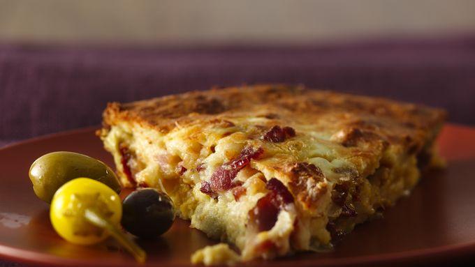 Easy Italian Artichoke-Bacon Pie