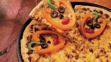 Jack-o'-Lantern Pizza