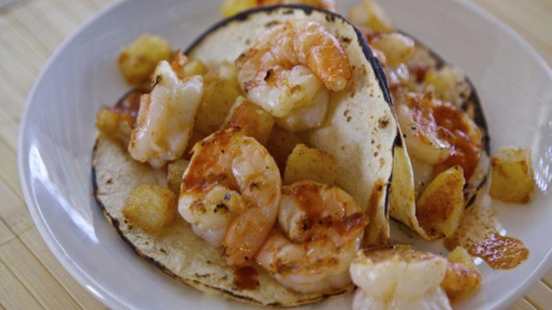 Tacos de Camarones y Papa
