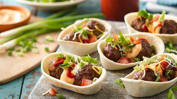 Sriracha Meatball Mini Boats