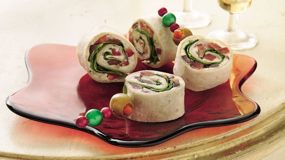 Greek Salad Pinwheels