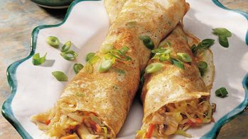 Mou Shu Vegetables with Asian Pancakes