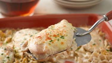 Creamy Baked Chicken Stroganoff
