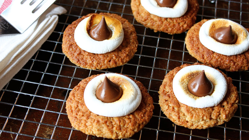 Easy Oatmeal S'mores Cookies