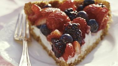 Mixed Berry Pie with Lactose Free Yogurt