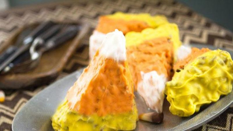 Chocolate Cereal Candy Corn Bars