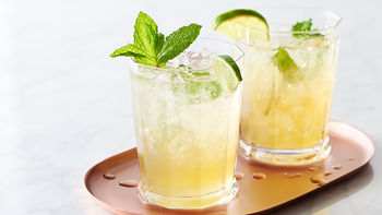 Sparkling Mint-Lime Iced Tea