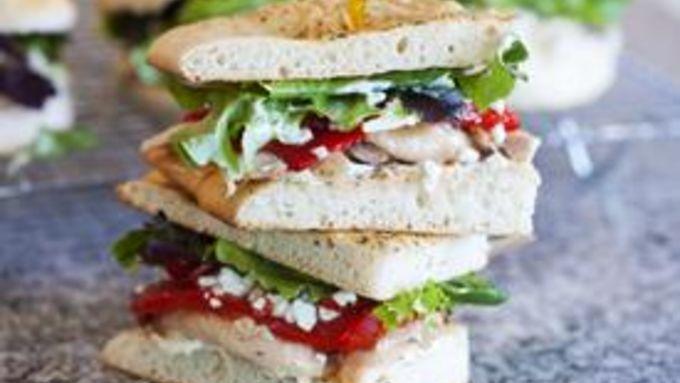 Mediterranean Chicken Sandwiches
