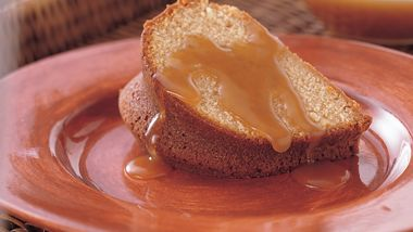 Brown Sugar Cake with Buttery Brown Sugar Sauce