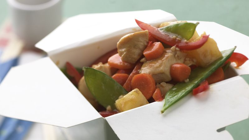 Skinny Chicken-Pineapple Stir-Fry