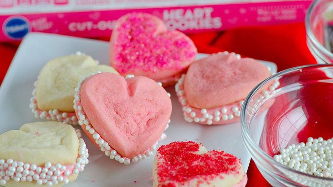 3-Ingredient Heart-Shaped Cookies