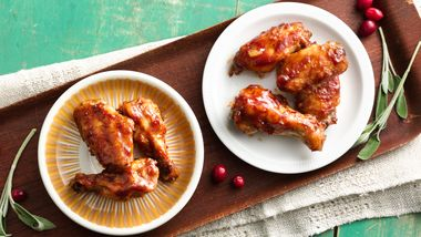 Smoky Cranberry Chicken Wings