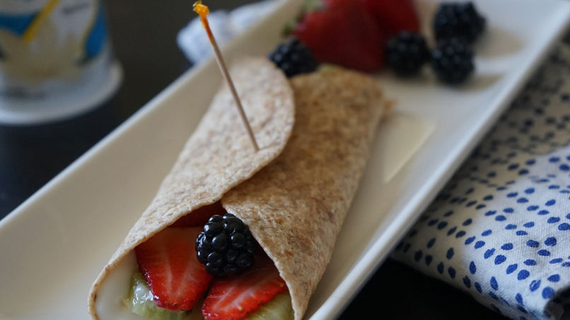 Yogurt and Fruit Boo-rritos
