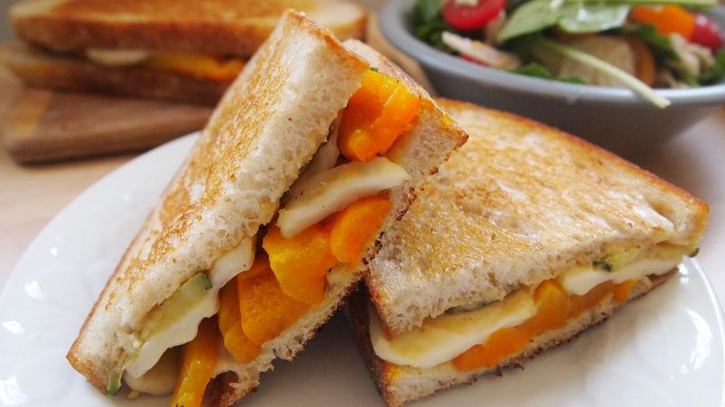 Mediterranean Grilled Halloumi Sandwich