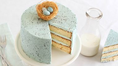 Speckled Egg Malted Milk Cake