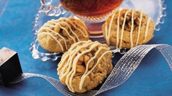 Walnut-Topped Ginger Drop Cookies