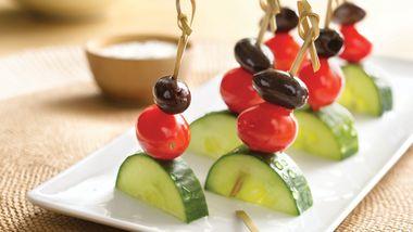 Gluten-Free Greek Salad Kabobs