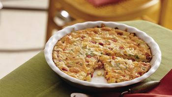 Impossibly Easy Ham and Cheddar Pie