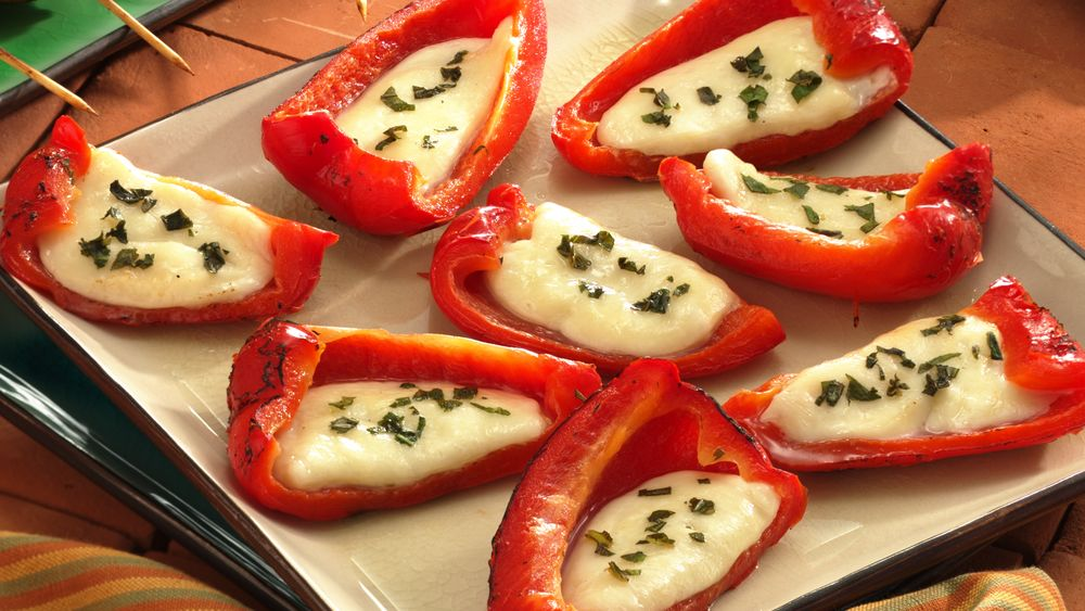 Grilled Cheese-Stuffed Roasted Red Peppers