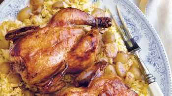 Cornish Hens with Orange Rice