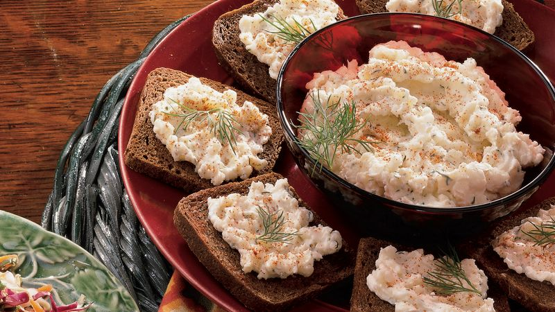 Muenster Cheese Spread with Pumpernickel Toast