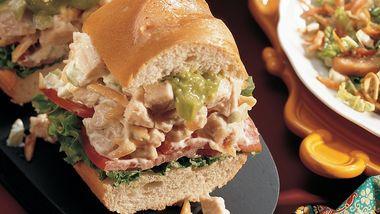 Chicken-Almond Baguette