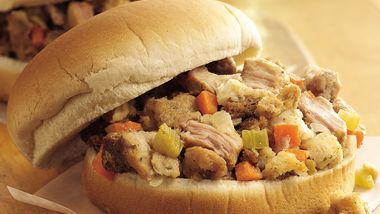 Slow-Cooker Turkey and Dressing Sandwiches