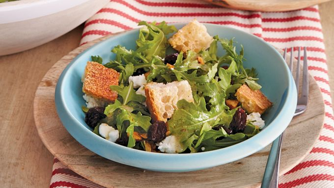 Cherry-Almond-Arugula Salad recipe - from Tablespoon!