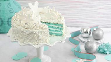 Blue Velvet Coconut Torte