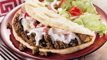 Beefy Greek Pita Folds