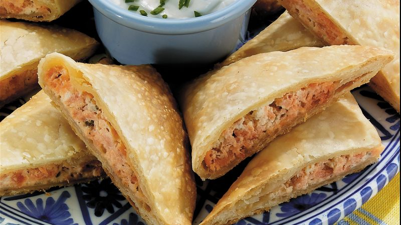 Garlic Herb and Salmon Empanadas
