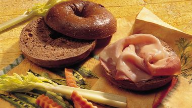 Honey Ham Bagel Sandwiches