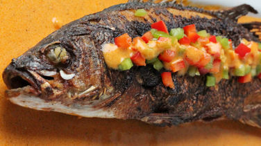 Fried Fish with Coconut Sauce
