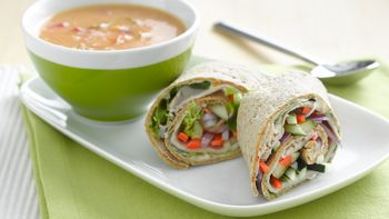 Turkey Vegetable Rollups with Soup