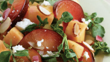 Melon and Watercress Salad with Pickled Onions