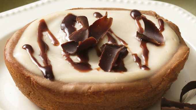 Impossibly Easy Mocha Fudge Cheesecake
