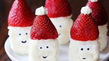 Santa Hat Marshmallow Snacks