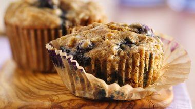 Oatmeal-Whole Wheat Blueberry Muffins
