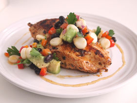 Grilled Chicken Breasts with Corn Salsa