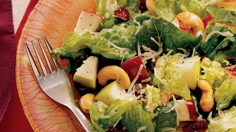 Winter Fruit Salad with Lemon-Poppy Seed Dressing