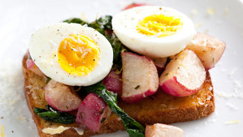 Butter-Braised Radish Open-Face Sandwiches