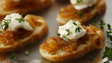 Crostini with Caramelized Onion Jam