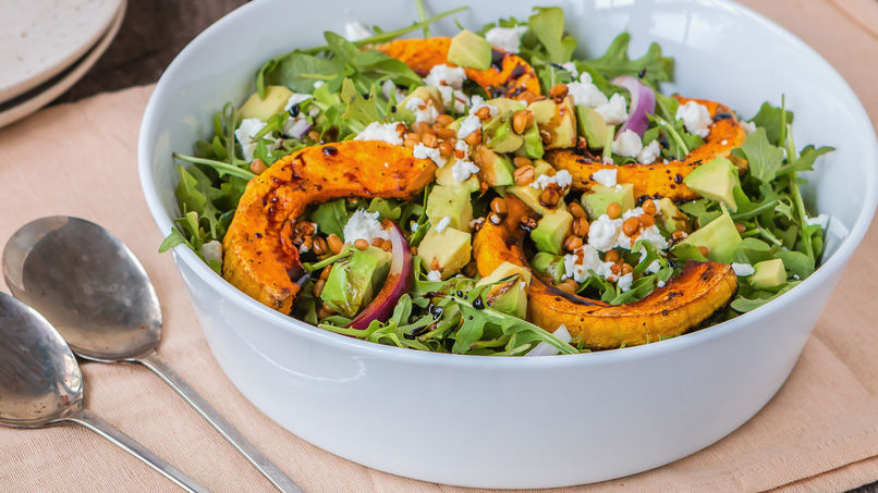 Roasted Pumpkin Salad with Khorasan Wheat