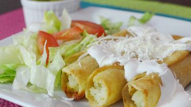 Potato and Cheese Flautas
