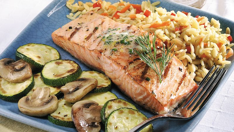 Grilled Salmon with Citrus-Dill Butter