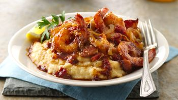 Shrimp with Lightened Grits