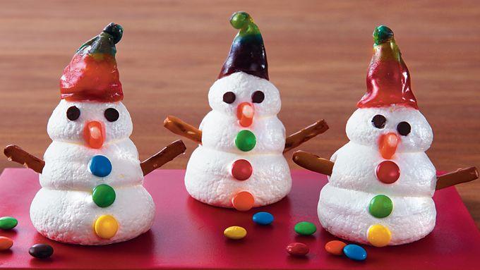 Frosty Snowman Meringues