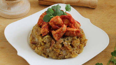 Chicken Mofongo with Creole Sauce